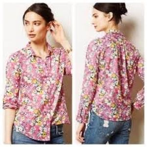 Holding Horses for Anthropologie Isla button down